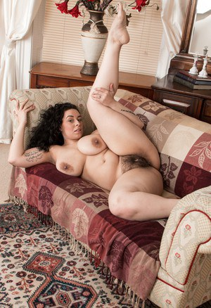 Fat woman with hairy pussy fucked by two men 3